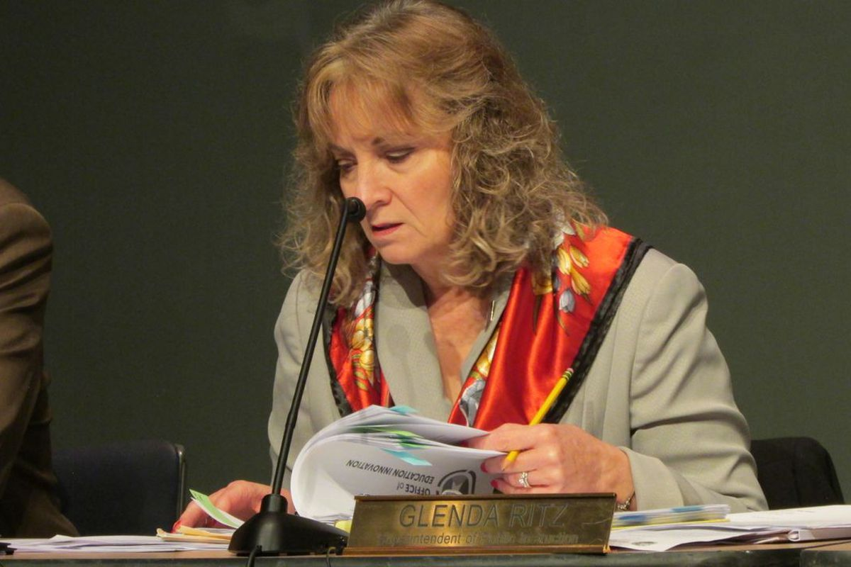 State Superintendent Glenda Ritz at November's Indiana State Board of Education meeting.