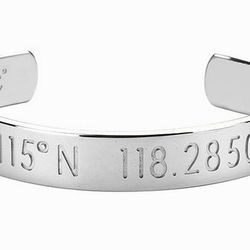 """Local jewelry brand Coordinates Collection's customizable bracelets and rings lets you wear LA's latitude and longitude, literally. The silver Horizon bracelet (<a href=""""http://www.coordinatescollection.com/horizon-bracelet"""">$229—$294</a>) is partic"""