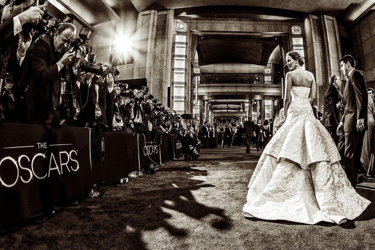 Jennifer Lawrence at the 2014 Academy Awards