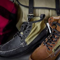 Two of the styles from the Filson x Sebago collab
