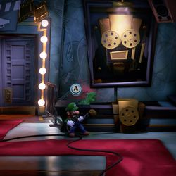 Pull the ball to make the 8F yellow gemappear in <em>Luigi's Mansion 3</em>