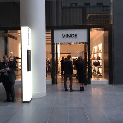 The Vince store can be overlooked since it's next to an empty space.