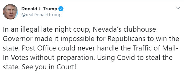Trump S Radical Lawsuit Against Ab4 Nevada S New Vote By Mail Law Vox