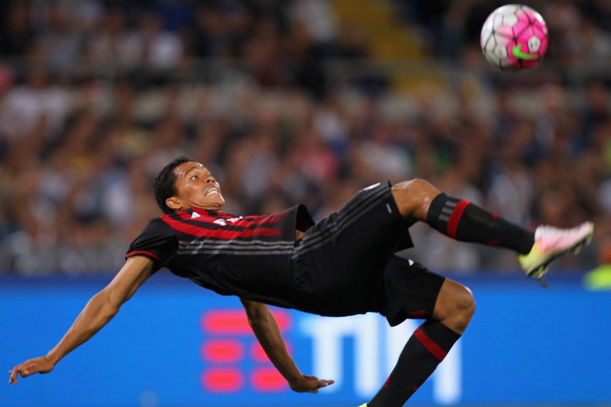 Carlos Bacca's overhead kick attempt, like Milan's effort today, was extremely close...but not good enough.