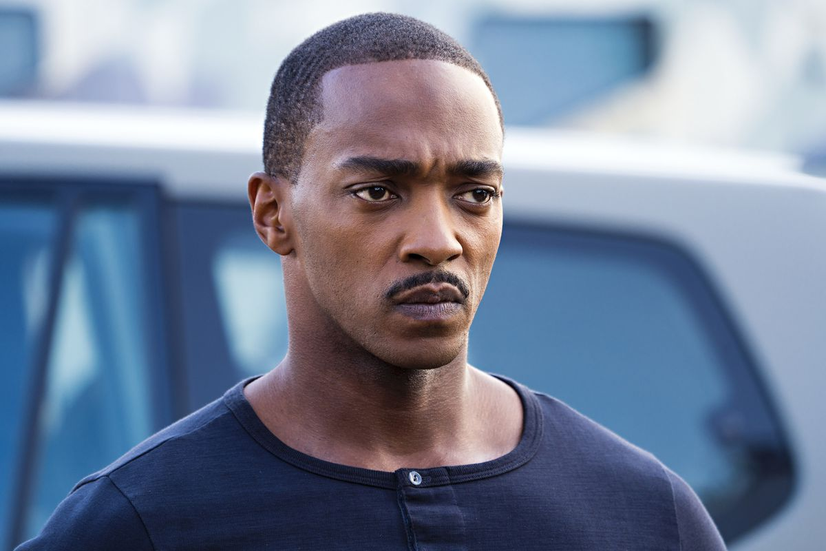 Anthony Mackie looking super handsome and stoic in outside the wire