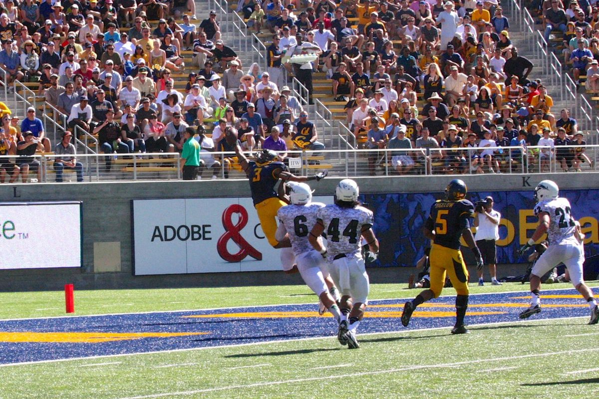 Maurice Harris Skies for a One-Handed Touchdown Grab