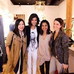 Left to right: Jeanne Chan of Shop Sweet Things, Krystal Bick of This Time Tomorrow, Natalie Goel of Like Fresh Laundry and Alicia Lund of Cheetah Is the New Black.