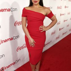 Gina Rodriguez, in a Haney dress.