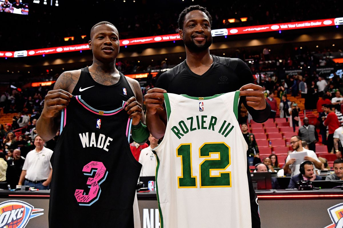 bc2c93899 Terry Rozier swaps jerseys with childhood idol Dwyane Wade - Card ...