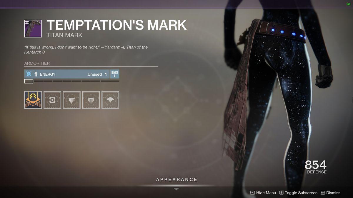 Destiny 2's Temptation's Mark