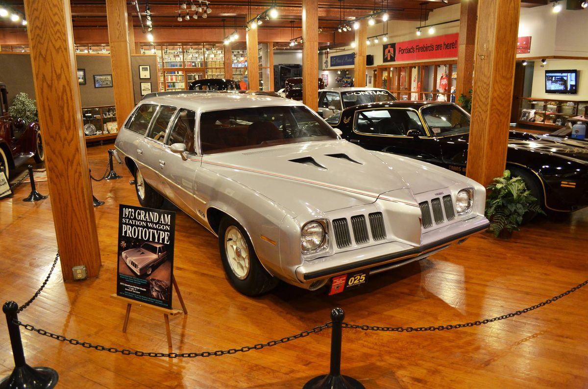 The 1973 Grand Am station wagon prototype on display at the Pontiac Oakland Automobile Museum.  <br>Pontiac Oakland Automobile Museum/Facebook