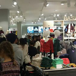 The line to the women's department.