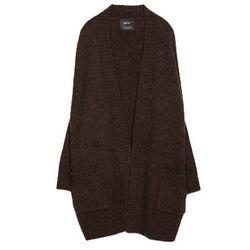 """<b>Zara</b>, <a href=""""http://www.zara.com/us/en/woman/knitwear/cardigans/oversize-jacket-with-pockets-c498027p2004920.html"""">$60</a>"""