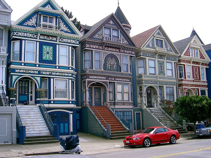 A row of Victorian houses in San Francisco.