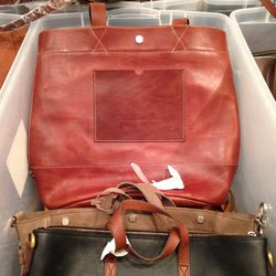 Large leather tote, $130