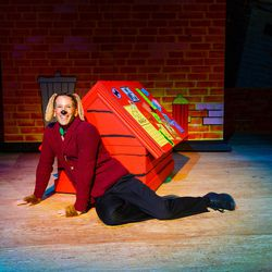 """Alexis Baigue as Arthur Dog in Salt Lake Acting Company's production of """"Art Dog,"""" which runs Dec. 4-23."""