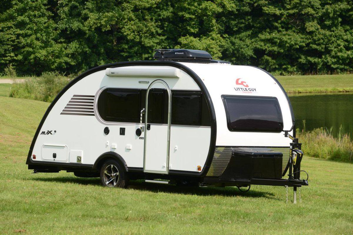 Camper trailer blends classic teardrop style with amenities