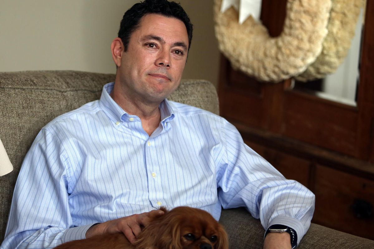 """FILE"""""""" Rep. Jason Chaffetz talks about his resignation at home in Alpine on Thursday, May 18, 2017."""