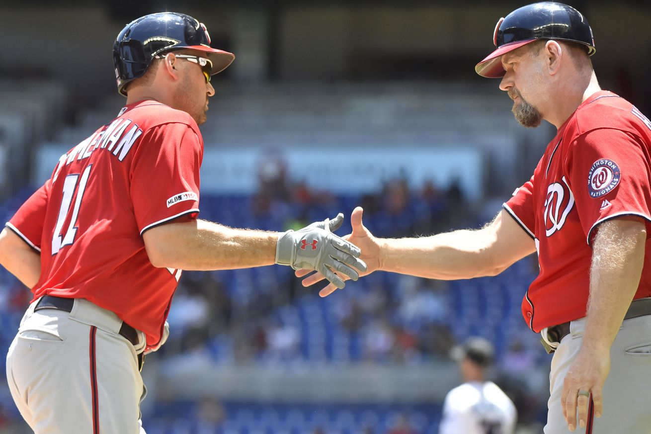 Nationals 5-0 over Marlins to avoid sweep; Stephen Strasburg with eight scoreless vs Fish...