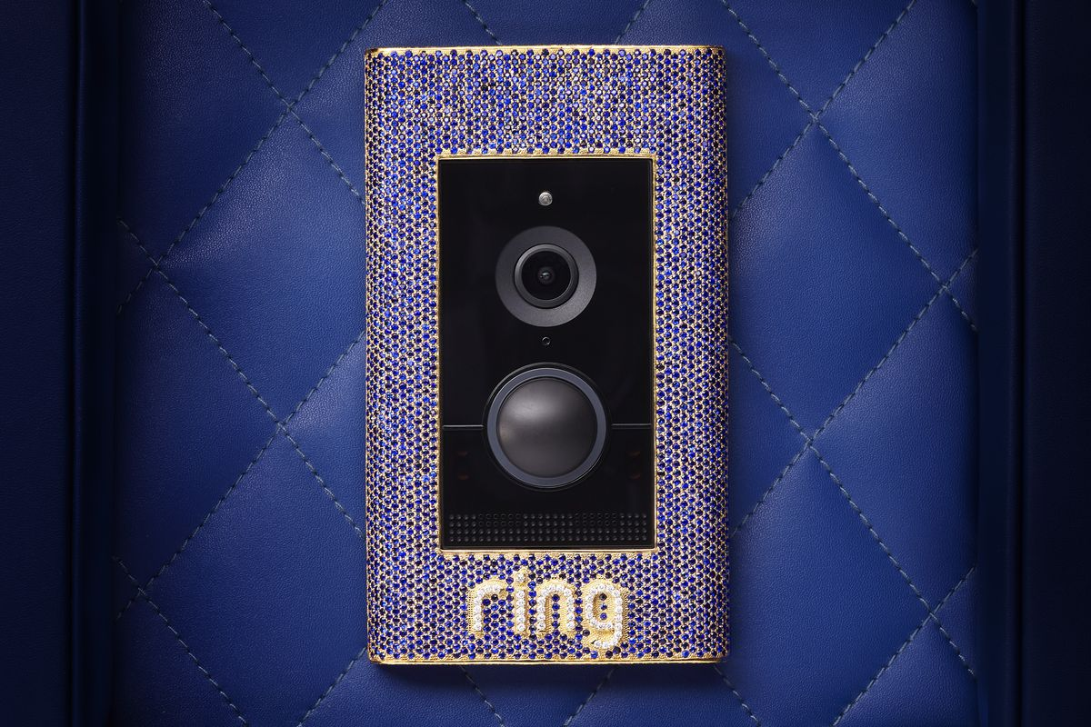 Rings New 100000 Doorbell Is Encrusted With Sapphires Diamonds