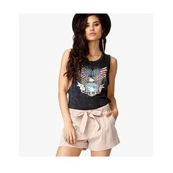 """Pleated Shorts with Self-Tie Belt in Taupe, $17.80 at <a href=""""http://www.forever21.com/Product/Product.aspx?BR=f21&Category=bottom_shorts&ProductID=2022817563&VariantID="""">Forever 21</a>"""