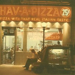 """Hav-A-Pizza, E. 86th Street.  <span class=""""credit""""> <a href=""""http://www.greendougherty.com/yorkville/yorkville_streets_86th_stores.htm/"""">[link]</a></span>"""