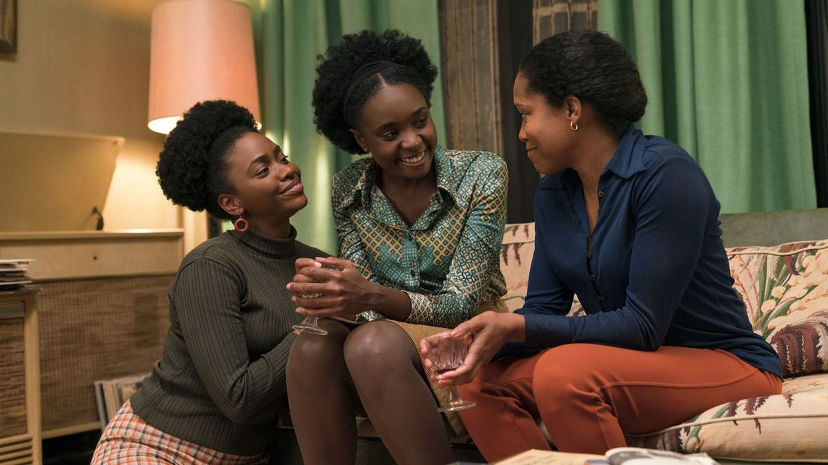 Teyonah Parris, KiKi Layne, and Regina King in If Beale Street Could Talk.