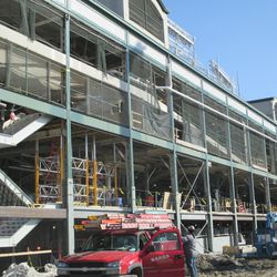 Closer view of the west side of the ballpark -