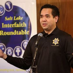 Utah Attorney General Sean D. Reyes speaks at the annual Interfaith Prayer Breakfast at the Hellenic Cultural Center in Salt Lake City on Thursday, Feb. 5, 2015.
