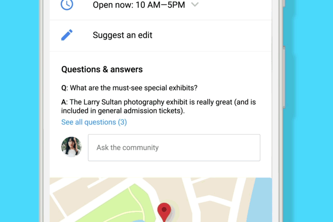 google brings q as to google maps and search