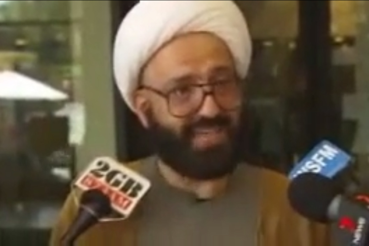 A 2010 still from a video of Sheikh Man Haron Monis speaking to reporters about the letters he sent the families of deceased soldiers