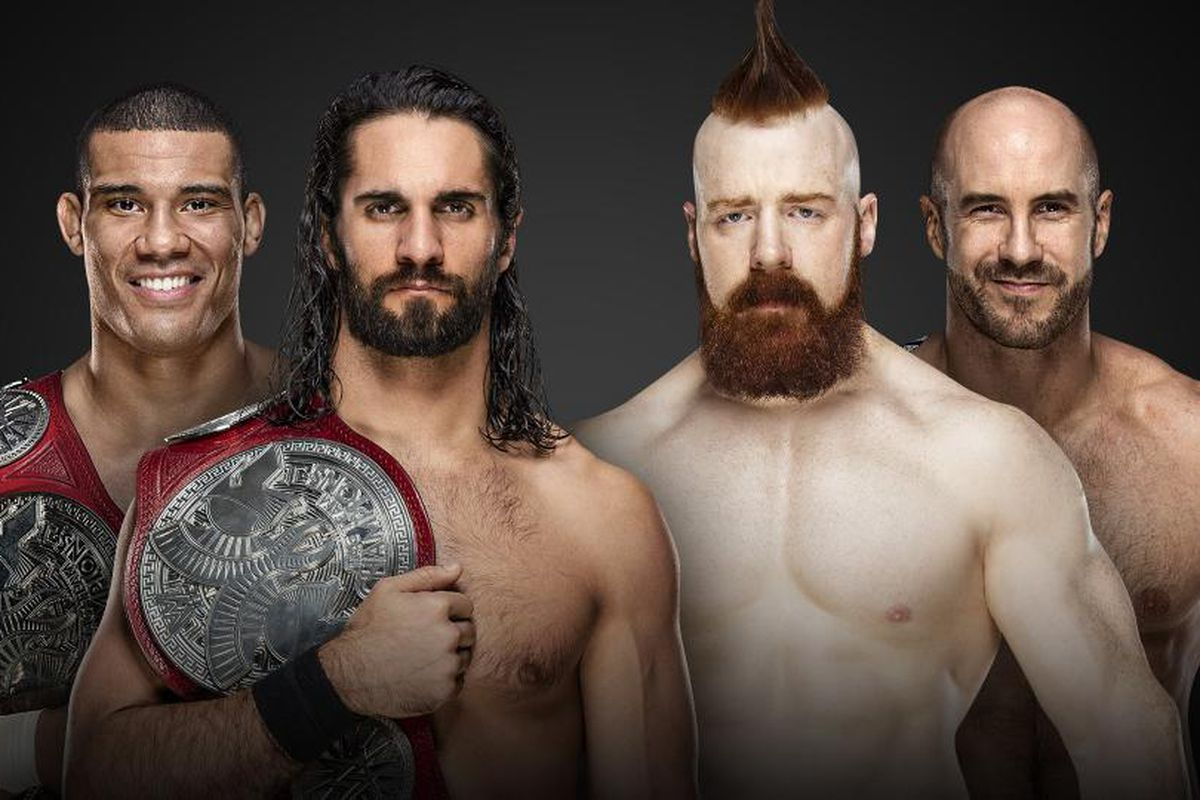 Resultado de imagem para The Bar (w) vs. Seth Rollins & Jason Jordan Royal Rumble