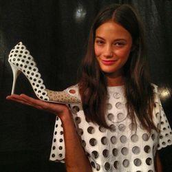 "A shoe from the Sophia Webster collab. Image via <a href=""http://instagram.com/p/eFO-pHvjqE/#"">Elle USA</a>/Instagram."