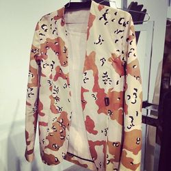 Camo blazer action by Lee Roach.
