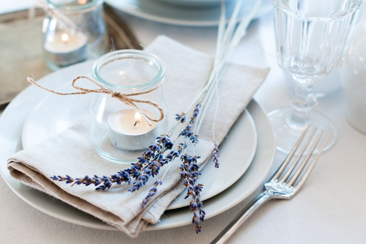candles for dining setup
