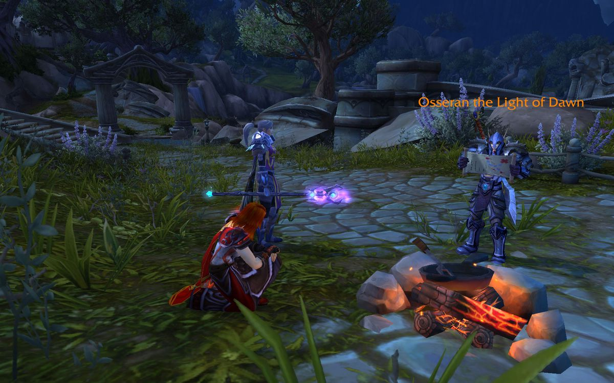 WOW campfire cross-faction talk with a university pal