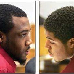 Ibrahim Rashada, left, and B.J. Mathis sit through testimony. The rape case all but wrapped up Wednesday.