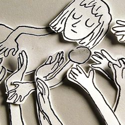 """Artist Annie Poon's """"Gentle Hands"""" (animation production still) from her film """"The Split House"""" (2016). Poon is participating in the first Mormon Arts Center festival, which runs from June 29 to July 1."""