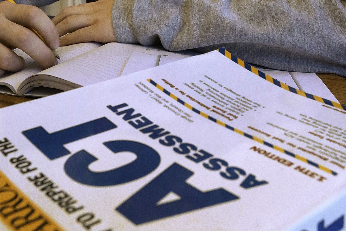 An ACT Assessment test is pictured in Springfield, Ill., on April 1, 2014.