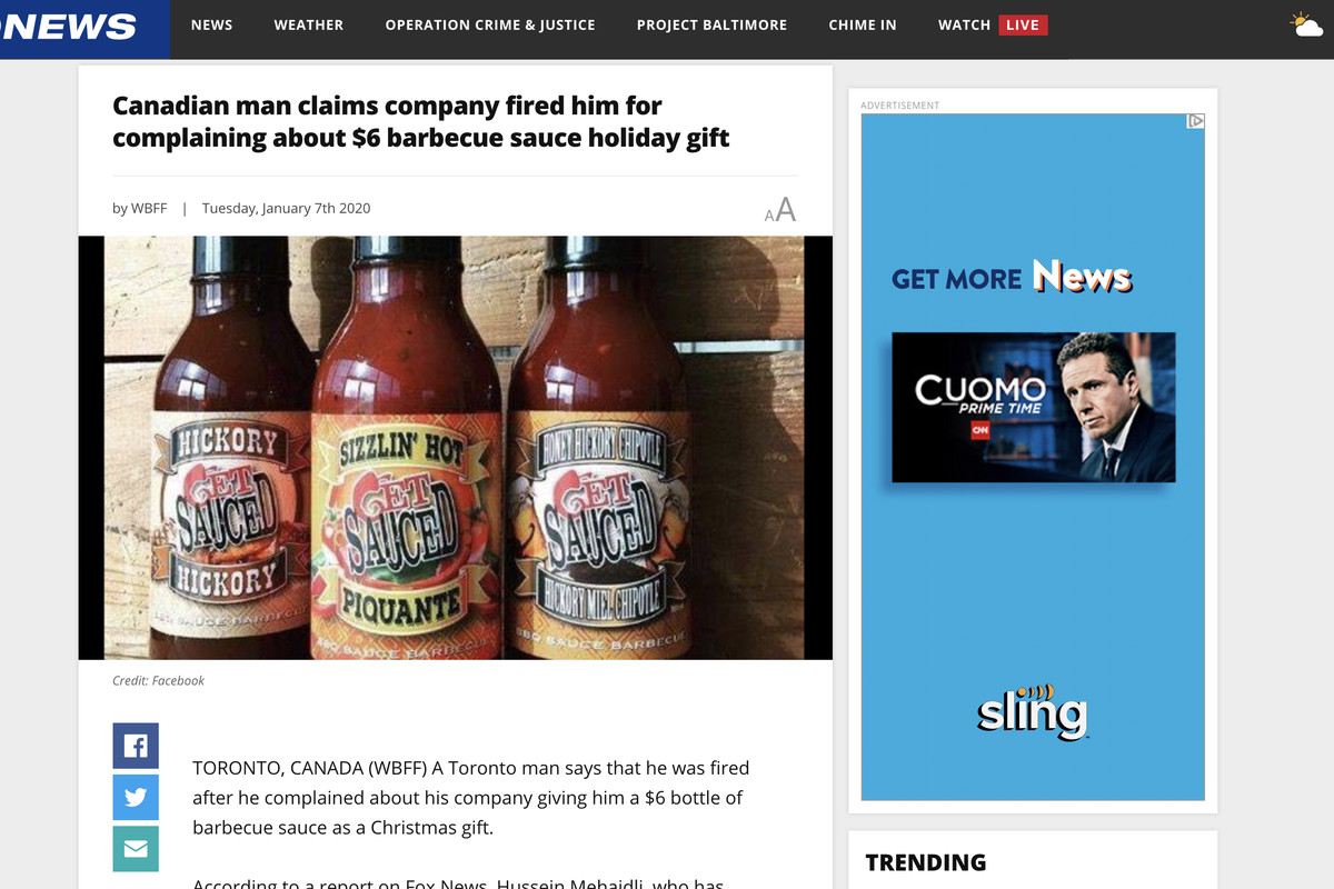 Merry Christmas 2020 Construction Man fired over tweet about barbecue sauce   Deseret News