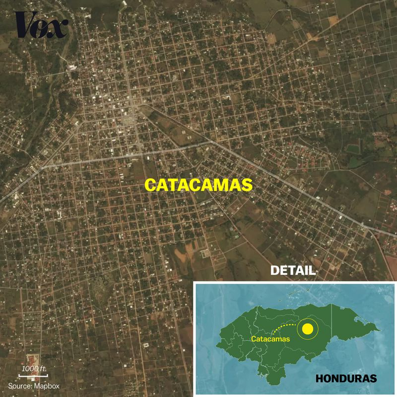 catacamas_map3 He fled Honduras, and its gangs, for safety in the US. After his death, who was to blame?