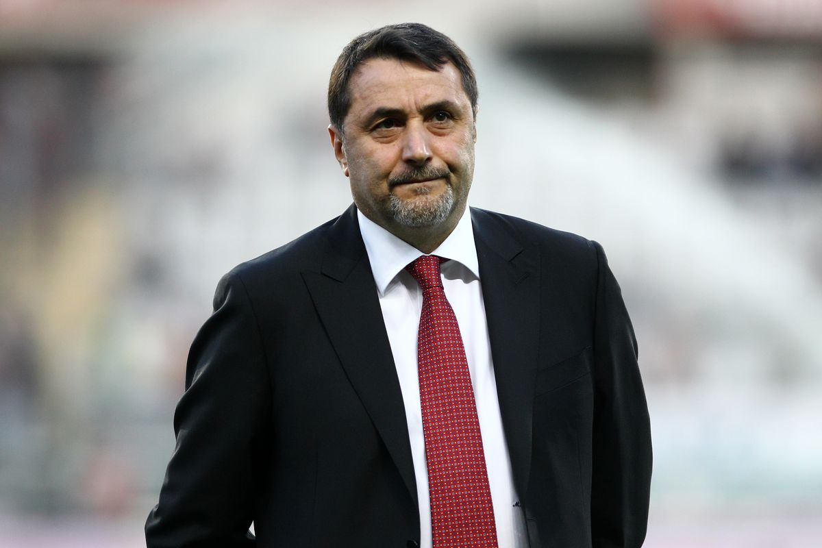 Massimiliano Mirabelli chief sport officer of Milan looks on...