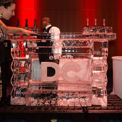 Ice sculpture, courtesy of Events DC.