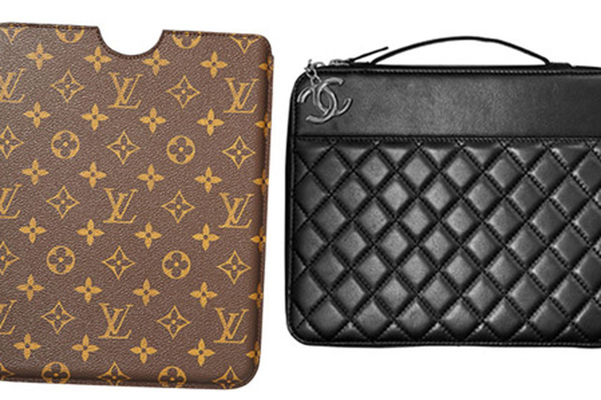 """Compared to the Chanel case—at 4x the price—the Louis Vuitton offering seems downright plebeian. Image via <a href=""""http://www.harpersbazaar.com/fashion/fashion-articles/stylish-ipad-cases-0910?click=main_sr"""">Harpers</a>"""