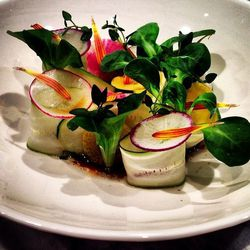Salad, walnut concentrate by Chef Sergio Perera of the Amalur project