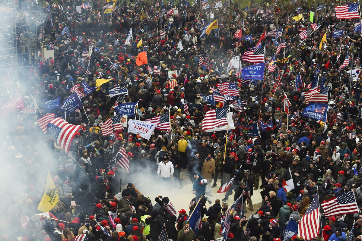 Trump supporters clash with police and security forces as they storm the US Capitol on January 6.