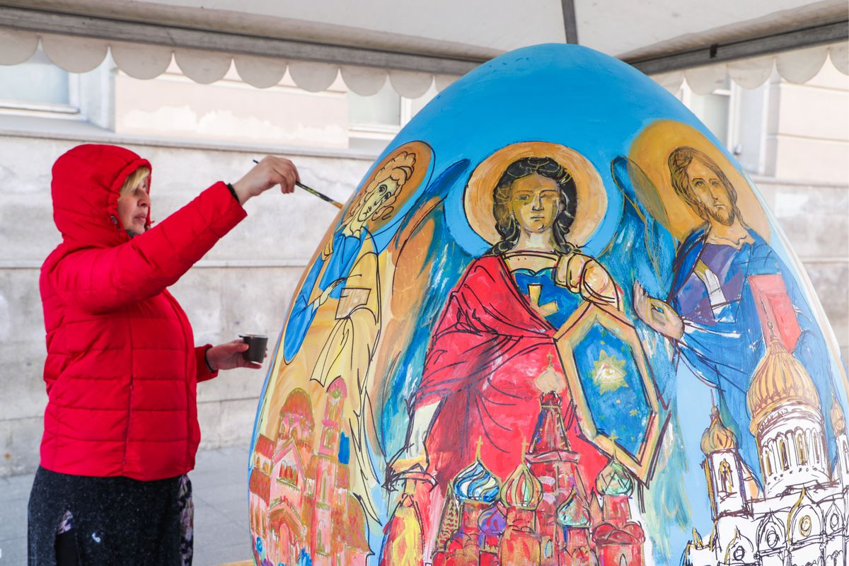 Easter charity festival in Moscow, Russia