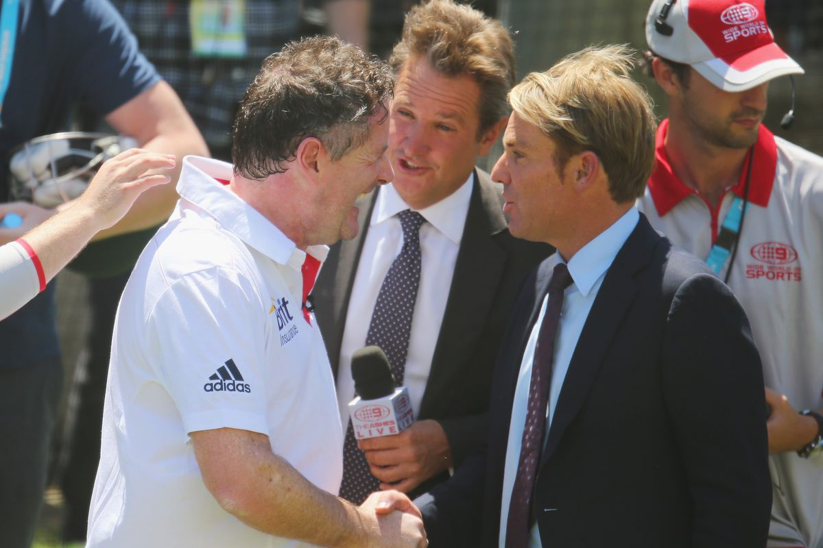 unlike Aaron Ramsey, Shane Warne will shake Piers Morgan's hand