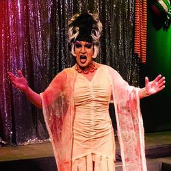 Ashley Morgan as the bride of Frankenstein.