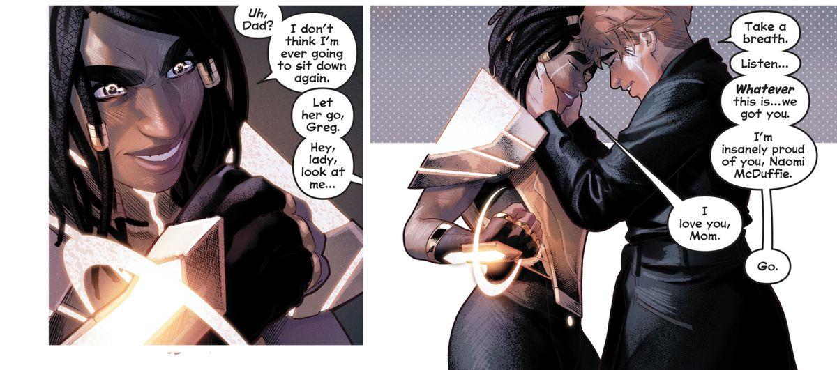 Naomi and her mom in Naomi #6, DC Comics (2019).